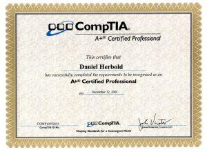 Zertifikat CompTIA A+ zum Hard- u. Software-Supporter