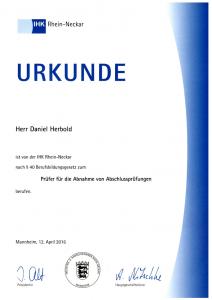 IHK Rhein-Neckar: Berufung zum Prüfer