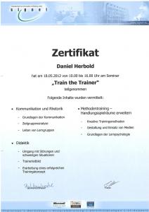 Zertifikat Train-the-Trainer