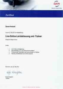 Schulung zum Live-Online-Lernbetreuer und Trainer