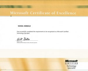 Microsoft Certified Technical Specialist