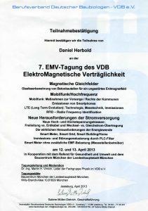 Teilnahme an Tagung zur Elektromagnetischen Verträglichkeit (EMV)